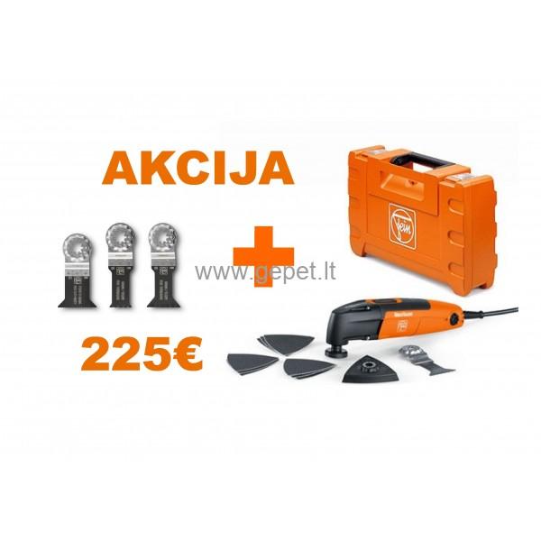Daugiafunkcinis FEIN MultiTalent FMT 250 QSL QuickStart 72295361000 + 3 peiliukai